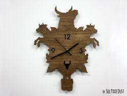 Bulls and Cows Modern Cuckoo clock - Wooden Wall Clock