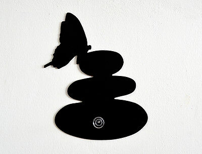 Zen stone with a butterfly-Wall Hook / Coat Hook / Key Hanger Gem Wall Hook
