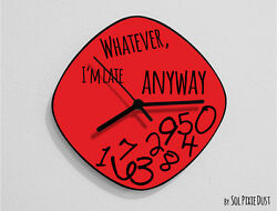 Whatever I'm Late Anyway / Oval Red - Wall Clock