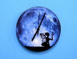Blue Moon Butterfly Fairy - Wall Clock