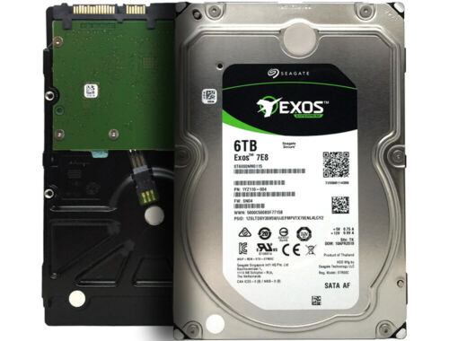 "Seagate Exos 7E8 ST6000NM0115 6TB 7200RPM 256MB 6Gb/s 3.5"" Enterprise Hard Drive"