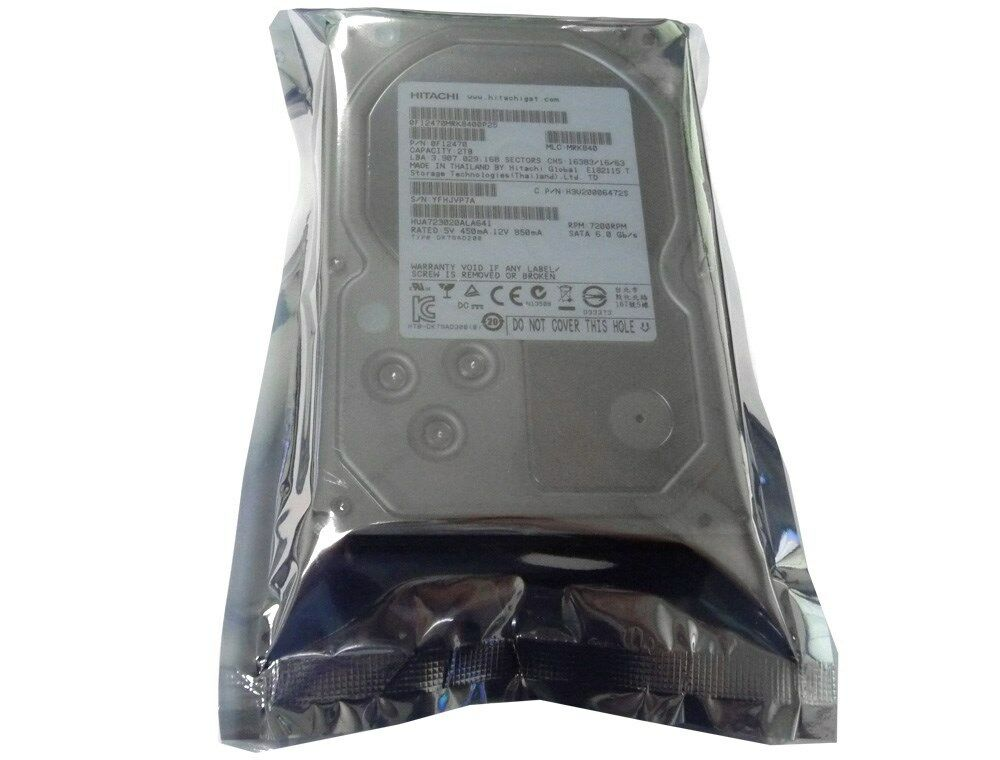 """Hitachi Ultrastar HUA723020ALA641 2TB 64MB 7200RPM 3.5"""" SATA6.0Gb/s Hard Drive"""