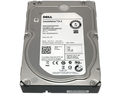 """DELL /Seagate ST4000NM0033 4TB 7200RPM 128MB SATA 6Gb/s 3.5"""" Internal Hard Drive"""
