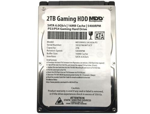 """MaxDigitalData 2TB 5400RPM 16MB SATA 6Gb/s 2.5"""" Internal Gaming PS4 Hard Drive"""