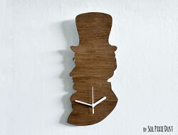 Old Fashioned Gentleman Vintage Silhouette - Wooden Wall Clock