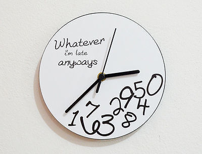 Whatever I'm Late Anyways - Novelty Gift - Custom Name Wall Clock