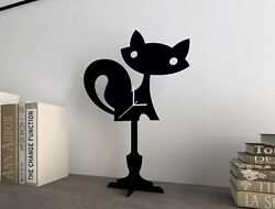 Fox Kids Cartoon - Silhouette Table Clock