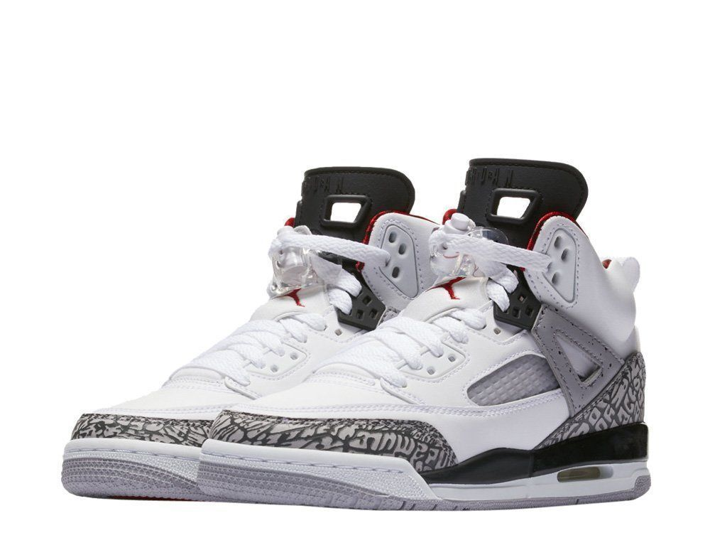 online store c118b 840a1  317321-122  AIR JORDAN SPIZIKE GS GRADE SCHOOL WHITE RED CEMENT GREY 4.5