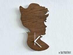 Old Fashioned Lady Vintage Silhouette - Wooden Wall Clock