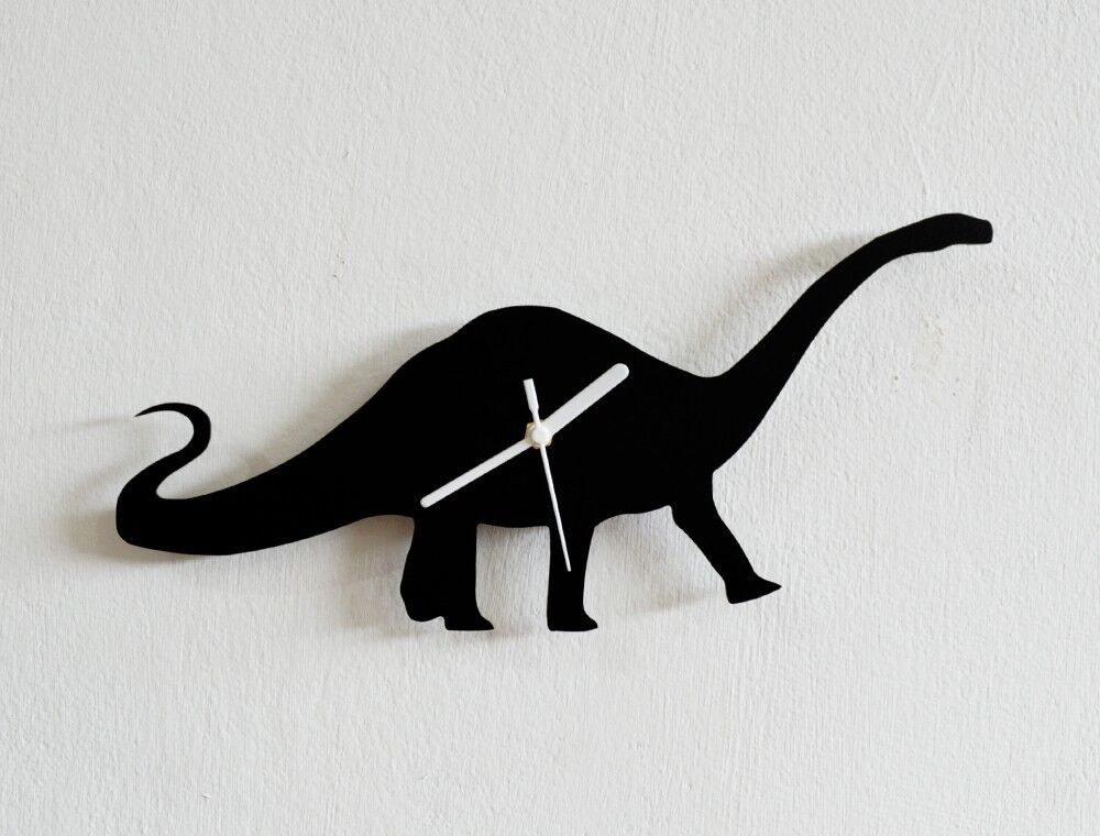 Dinosaurs Silhouette 1 - Wall Clock
