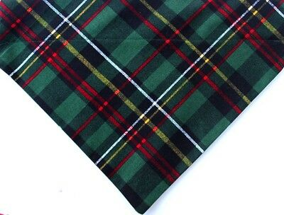 Christmas tartan green plaid dog bandana winter slip over collar pet bandana