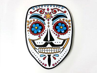 Guy Fawkes Mask Sugar Skull - V for Vendetta - Day of the Dead - Wall Clock ](Sugar Skull For Guys)