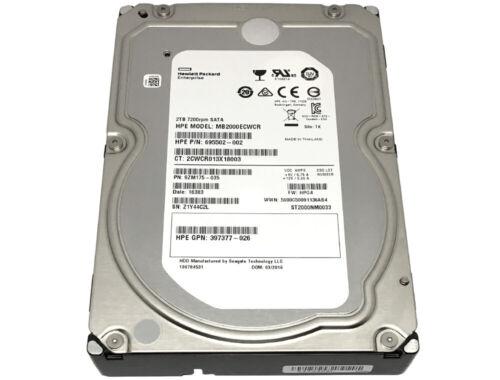 """HP / Seagate 2TB ST2000NM0033 7200RPM 128MB Cache SATA 6Gb/s 3.5"""" Enterprise HDD"""