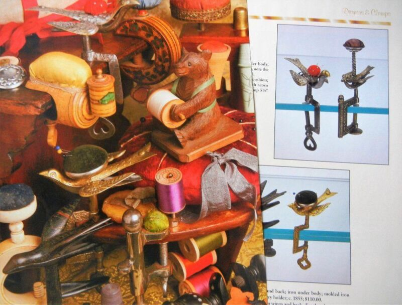 14p History Article + Color Pics -   Antique Sewing Clamps & Darners
