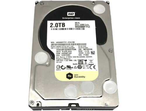 "Western Digital WD2000FYYZ 2TB 7200RPM 64MB SATA 6Gb/s 3.5"" Internal Hard Drive"