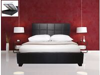 ARMANI MODERN DESIGN 4FT6 DOUBLE AND 5FT KING SIZE LEATHER BED