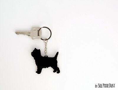 Cairn Terrier -  Keychain (Cairn Terrier Silhouette)