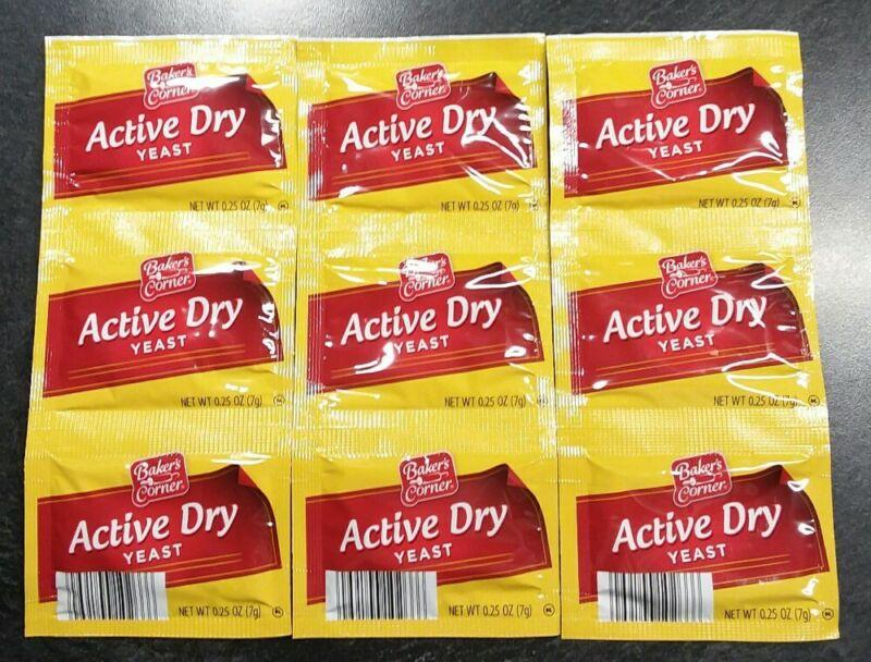 9pks 3 Strips Active Dry Yeast Exp 04/22 Baker
