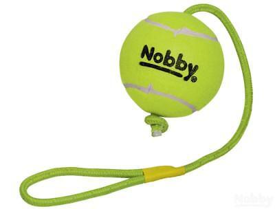 Nobby Tennisball mit Wurfschlaufe XXL 12,5cm Seil 70cm