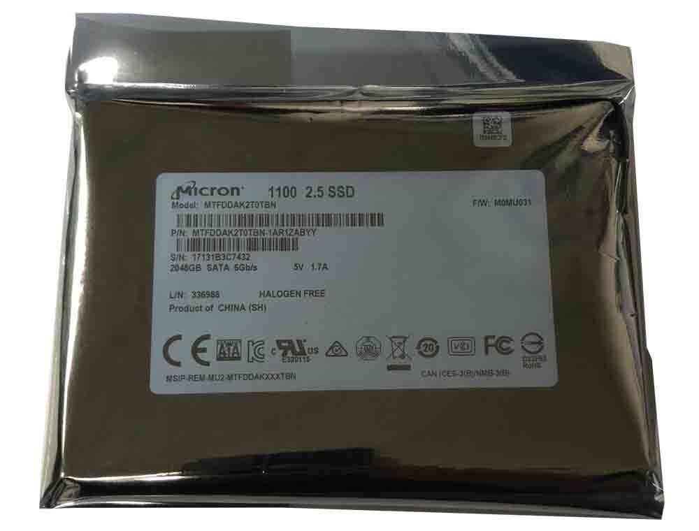 Micron 2TB 3D NAND SSD 2.5