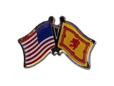 Pack of 50 USA American Scotland Lion Friendship Flag Hat Cap lapel Pin