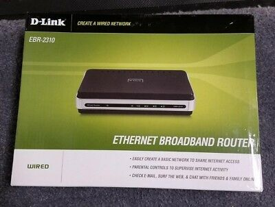 D-Link EBR-2310 4-Port 10/100 Wired Router for sale  Westminster