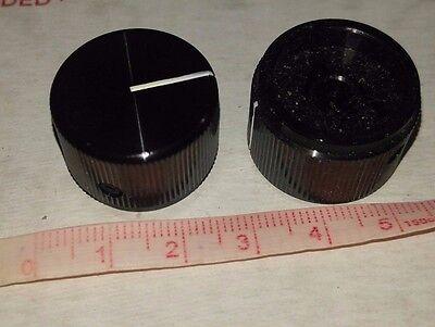 "ALCO  SOLID ALUMINUM, MACHINED KNOB,  FOR 1/4"" SHAFT  NOS 22mm Dia x 15mm"