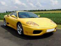 Ferrari 360 F1 Modena, 1999, RHD, Giallo Yellow, 38,300 miles, FFSH, Famous Previous Owner!HPI Clear