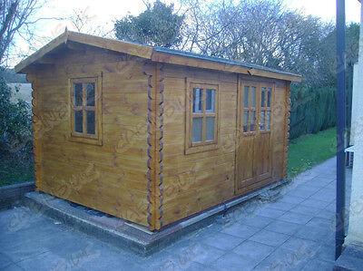 ROOK LOG CABIN - 5m x 4m - 44mm - Summer House, Garden Building, Home Office