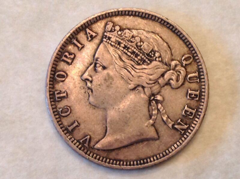 - 1888 Straits Settlements 20 Twenty Cents Victoria