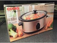 Slow Cooker by Cooks Professional - 4.5L - Unused