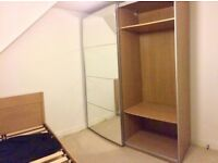 IKEA pax wardrobe with mirror sliding doors