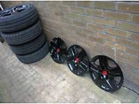 Wheels steel with tyre 5x120