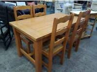 Hardwood dining table and X 4 chairs