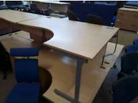 Curved office desks. Lots in stock