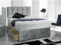 🔵💖🔴LOWEST PRICE FOR🎄2021🔵💖🔴DIVAN CRUSH VELVET SINGLE-DOUBLE+SMALL DOUBLE & KING SIZE BED BASE