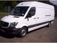 Mercedes sprinter LWB 65 reg only 7200 miles cat D repaired , Price + VAT