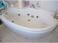 Juczzi bath with pump and toilet and pedastal sink
