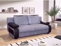 ***BRAND NEW*** 3 seater sofa bed BLACK AND GREY WHITE AND GREY 2 SEATER SOFA bed