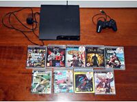 Playstation 3 + 1 original controller + 9 games
