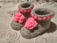 Chrochet baby shoes