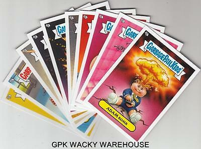 2013 GARBAGE PAIL KIDS BRAND NEW SERIES BNS 2 GLOW IN THE DARK SET 10/10 CARDS