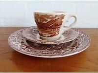 Job Lot Retro Vintage Staffordshire Teaset - 16 sets! Cups, Saucers, plates, afternoon tea set