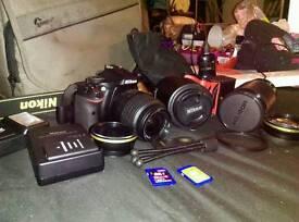 Nikon D5200 + Lenses + Accessories