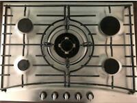 Neff double oven, 5 ring gas hob and extractor fan