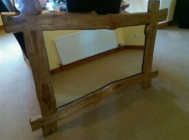 Large driftwood style mirror
