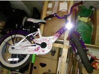 Girl Children's Bike Bikestar 12 Inch - Classic - Purple/White
