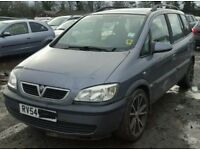 Vauxhall Zafira 1.8 Z18XE breaking for spares.
