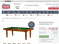 Plaisance Geneve pool table dining table good condition inc lots of accessories.