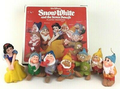 Walt Disney Snow White and the Seven Dwarfs Christmas Ornaments Vintage 60s 70s